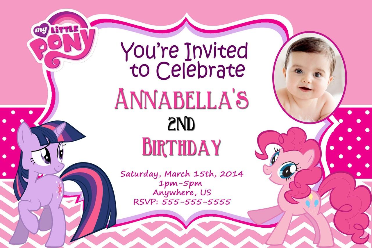 Pony Birthday Invitations -Free Printable My Little Pony Birthday - My Little Pony Free Printables