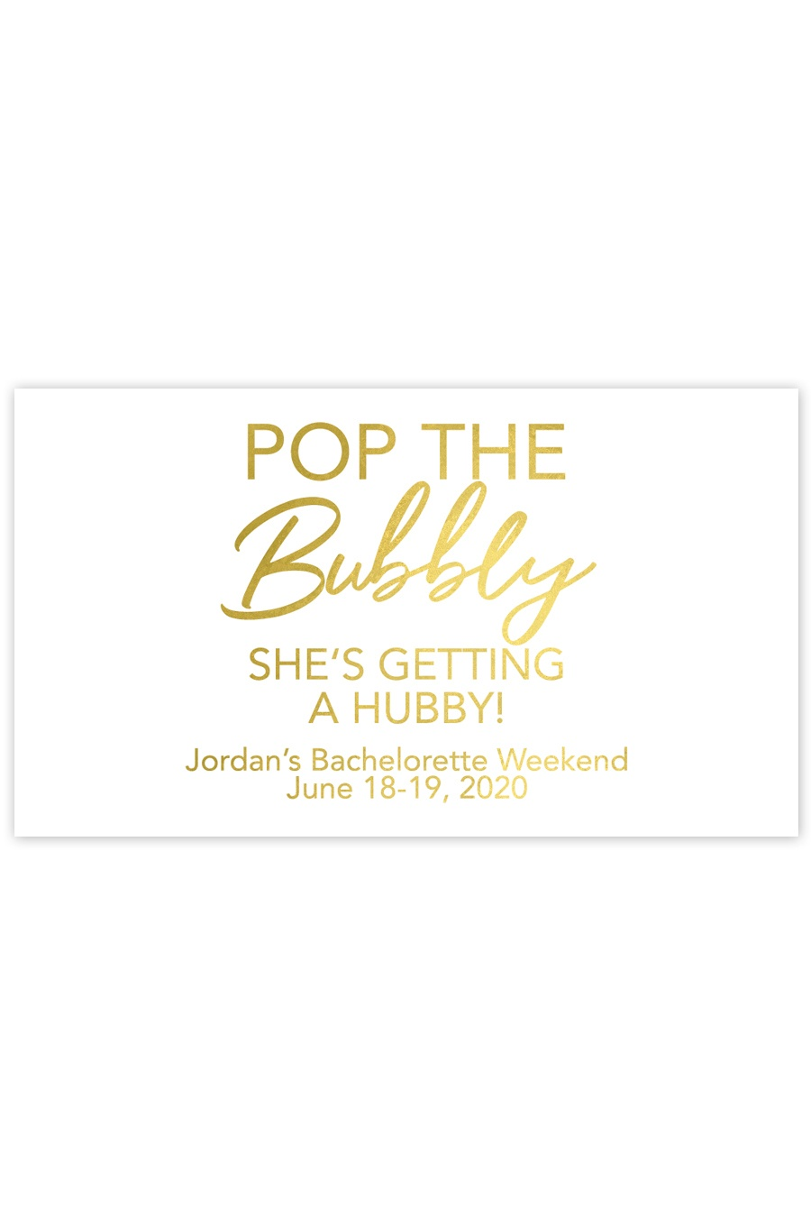 Pop The Bubbly She's Getting A Hubby Mini Champagne Labels - Chicfetti - Pop The Bubbly She's Getting A Hubby Free Printable