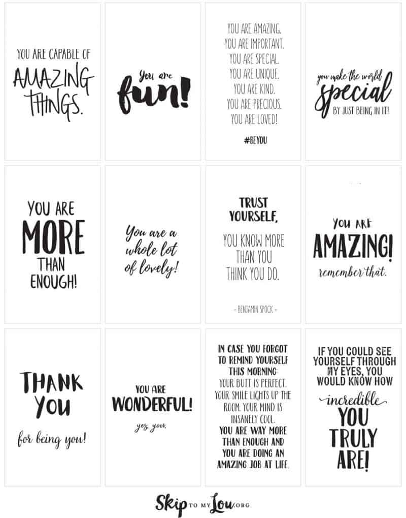 Positive Affirmations {Print And Share With Friends} | Skip To My Lou - Free Printable Affirmation Cards