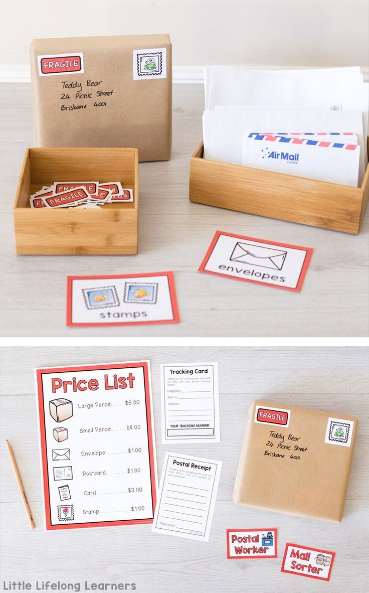 Post Office Dramatic Play Area | B&b : Plays Pretend | Dramatic Play - Post Office Dramatic Play Free Printables
