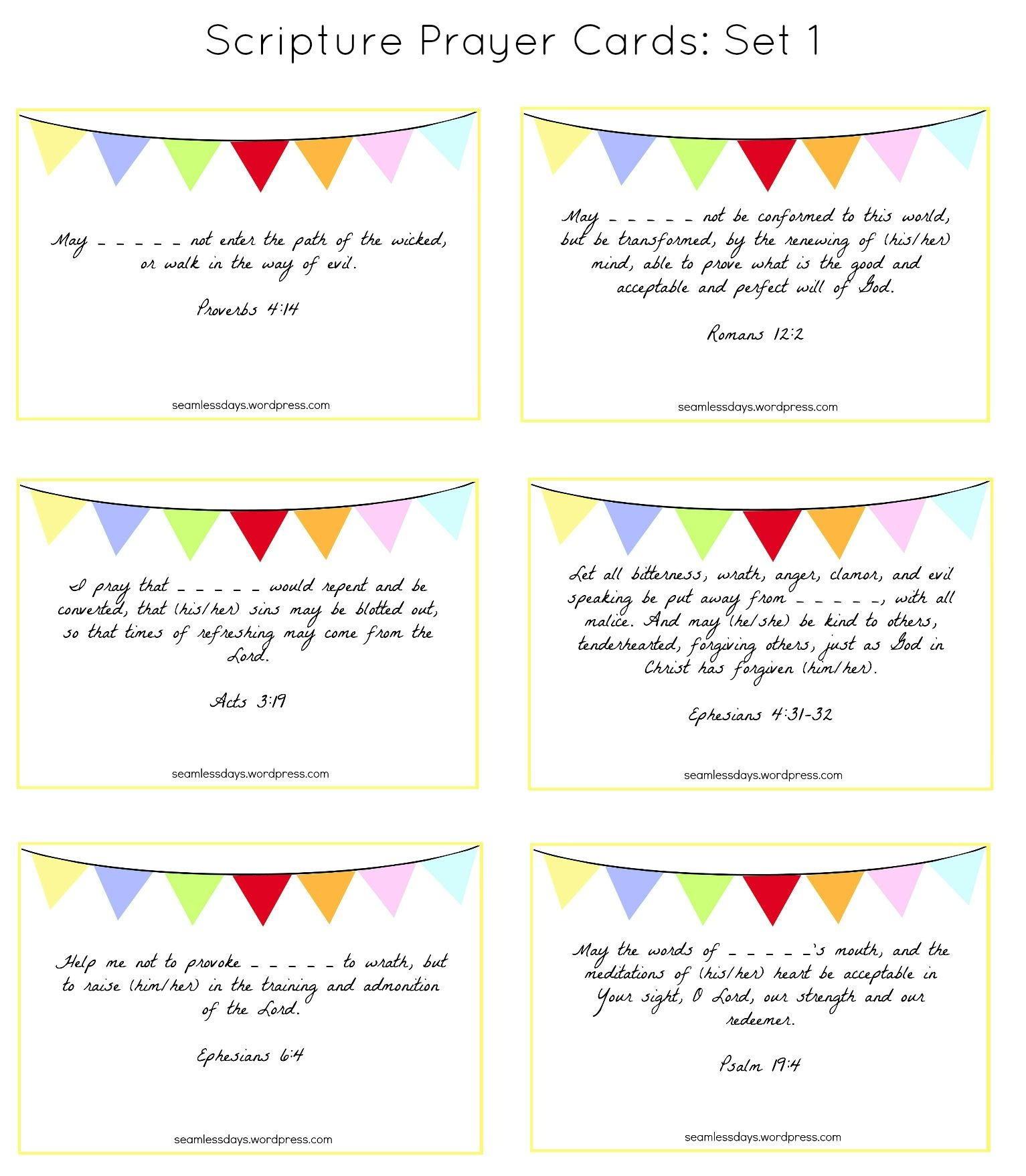 Praying For Your Children: A Free Printable | Prayer Ideas | Dios - Free Printable Prayer Cards