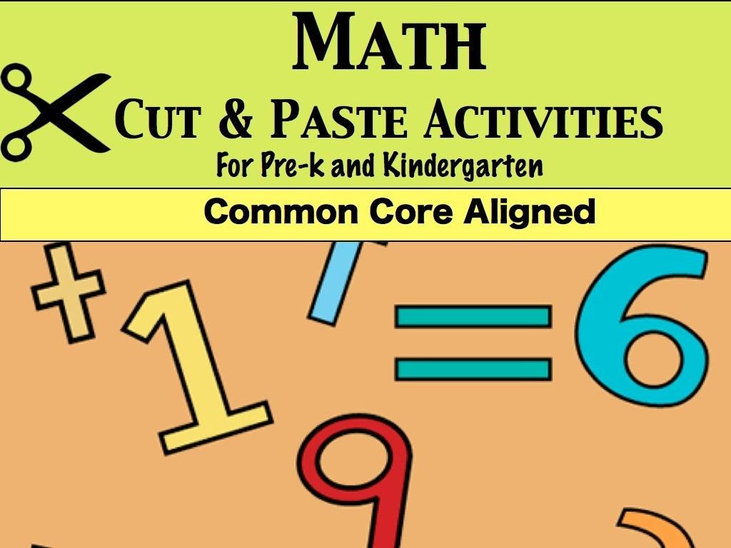 Prek/kinder Math Cut And Paste Worksheets – Jady A. - Jady A Free Printables