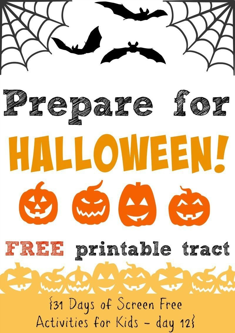 Prepare For Halloween This Year With This Free Printable Gospel - Free Printable Gospel Tracts For Children