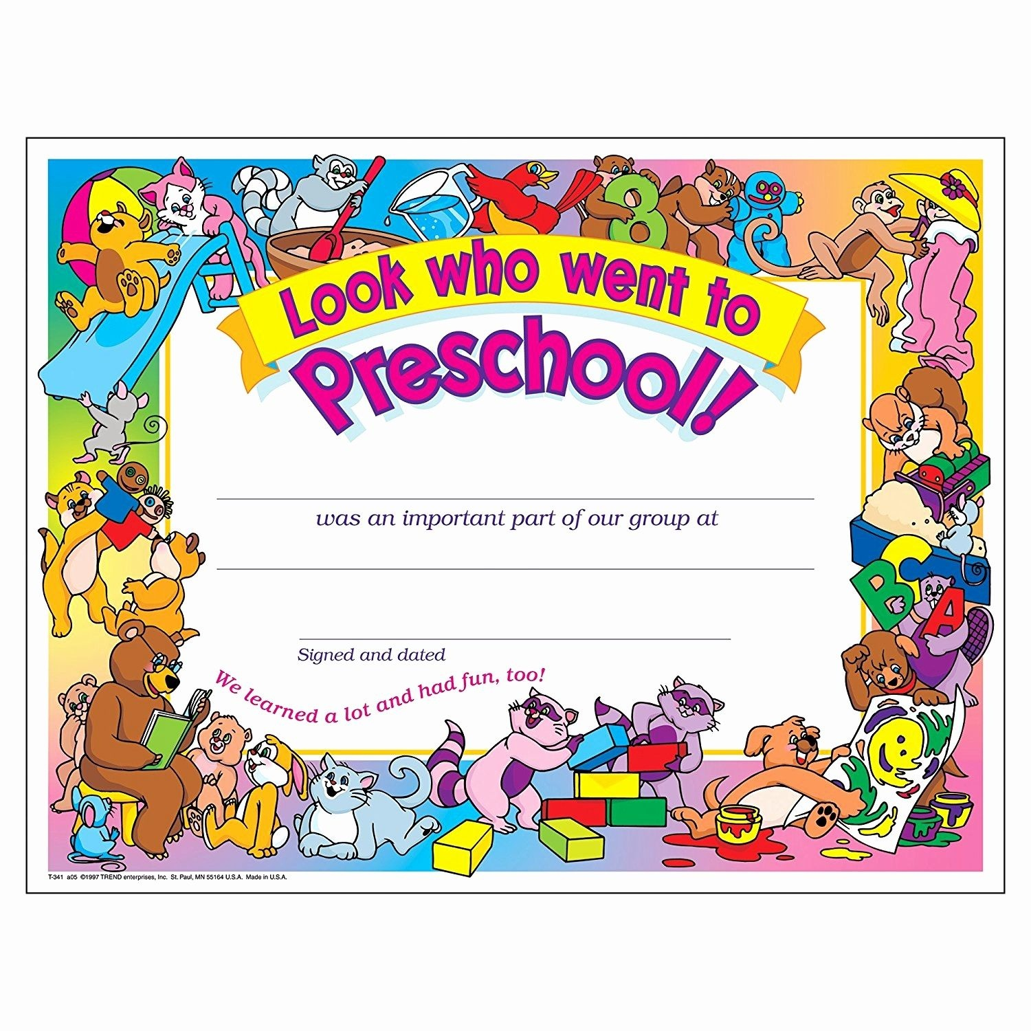 Preschool Certificate Templates Awesome Free Printable Preschool - Preschool Graduation Diploma Free Printable
