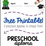 Preschool Graduation Diploma | All Things Preschool | Preschool   Preschool Graduation Diploma Free Printable