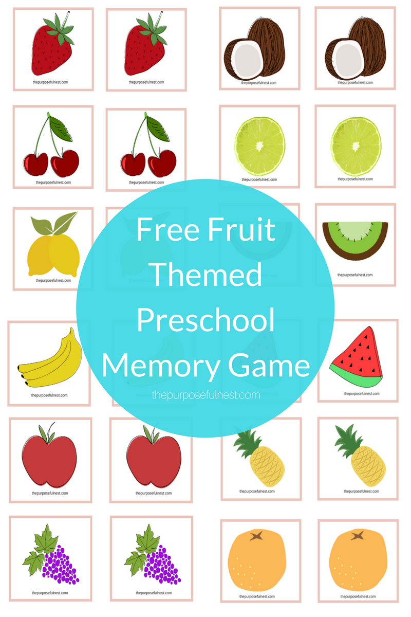 Preschool Memory Game | The Purposeful Nest - Free Printable Matching Cards