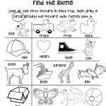Preschool Rhyming Worksheets – Karyaqq.club   Free Printable Rhyming Activities For Kindergarten