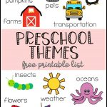 Preschool Themes Printable   Free Printable Picture Schedule For Preschool