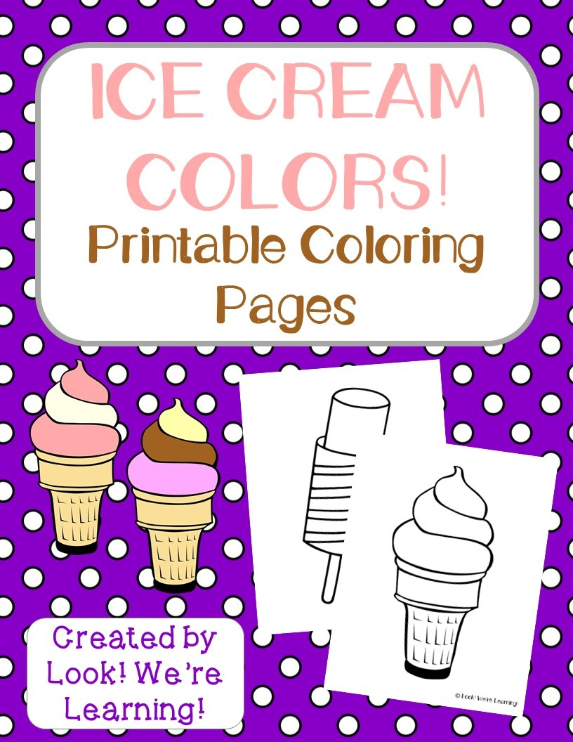Preschool Worksheets: Printable Ice Cream Preschool Worksheets - Free Printable Ice Cream Worksheets