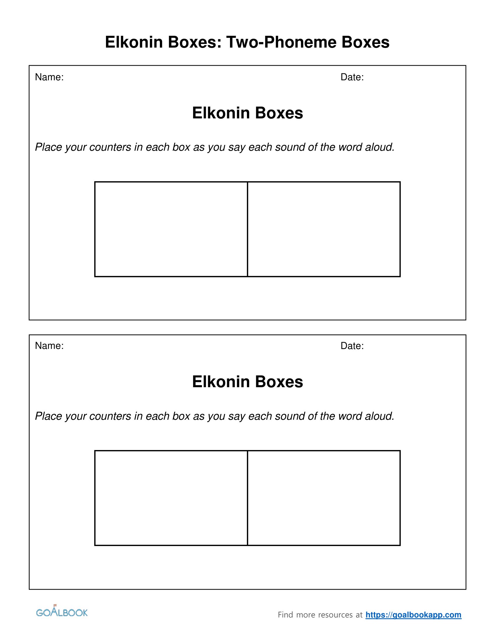 Pretty Elkonin Bo Template Images Gallery. 16 Elkonin Bo Template - Free Printable Elkonin Boxes