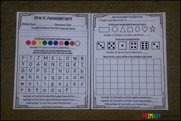Free Printable Pre K Assessment Forms