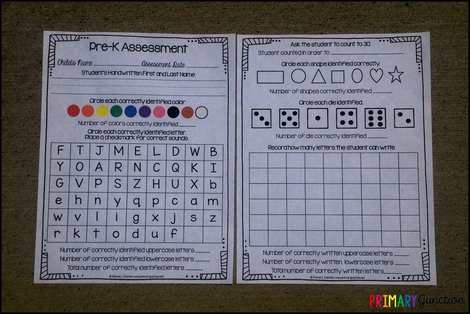 Primary Junction: Free Pre-K Assessment - Free Printable Pre K Assessment Forms