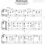 Print And Download. Hallelujah Easy Piano Music. Leonard Cohen   Hallelujah Easy Piano Sheet Music Free Printable
