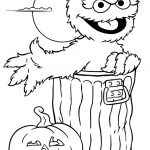 Print Oscar Sesame Street Halloween Coloring Pages Or Download Oscar   Free Online Printable Halloween Coloring Pages