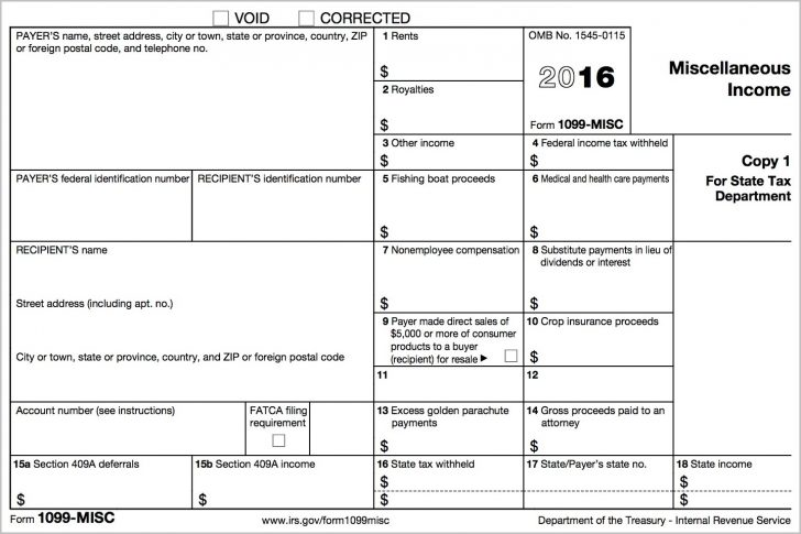Free Printable 1099 Form 2017