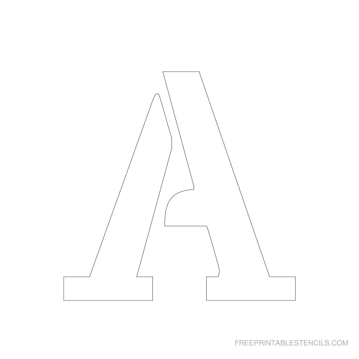 Printable 4 Inch Letter Stencil A | 06/19 | Letter Stencils, Free - Free Printable 4 Inch Block Letters