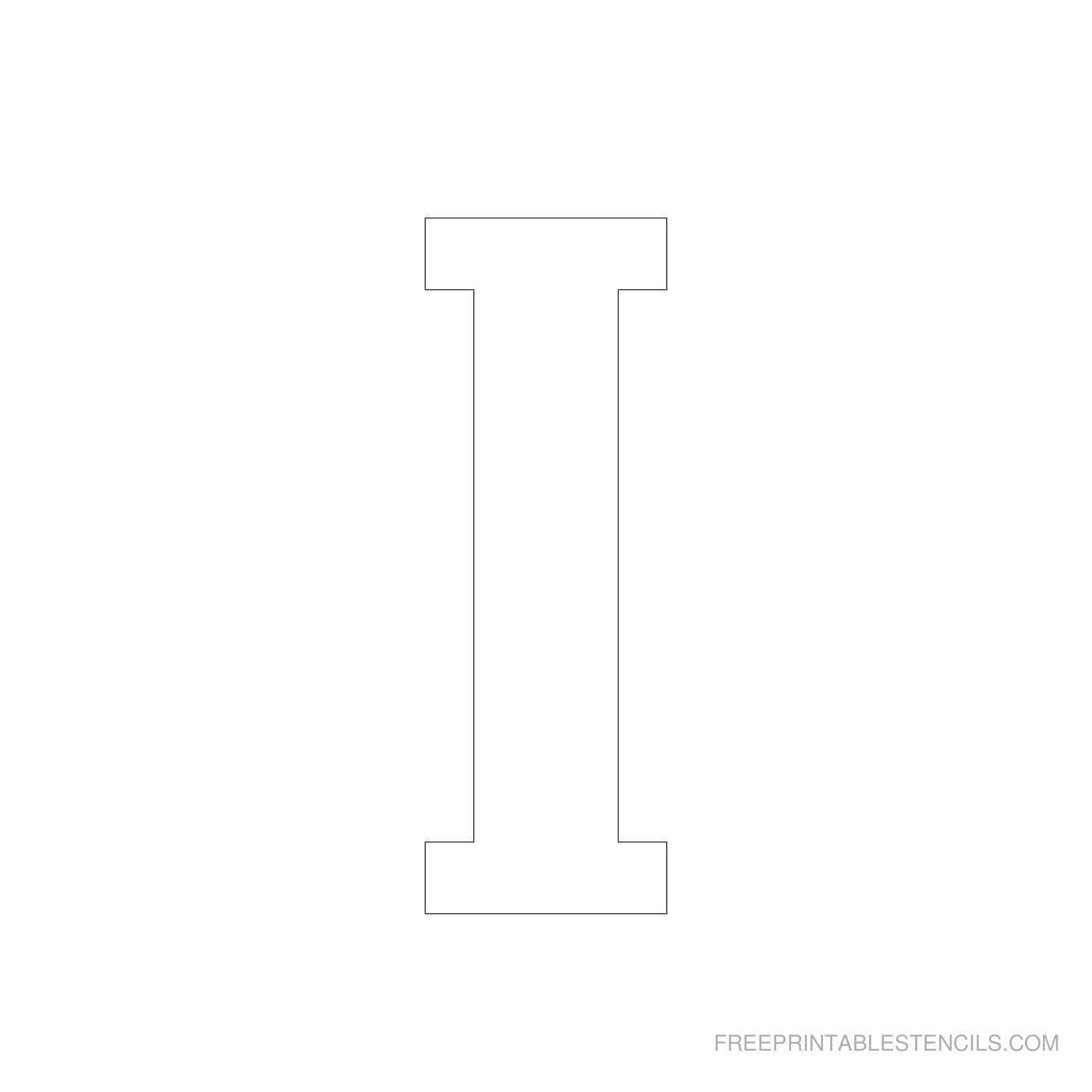 Printable 4 Inch Letter Stencils A-Z | Free Printable Stencils - Free Printable 4 Inch Block Letters