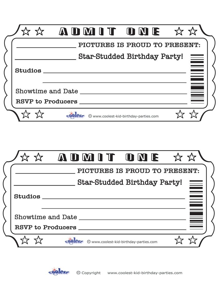 Printable Admit One Invitations Coolest Free Printables | Weddeng - Free Printable Ticket Invitations