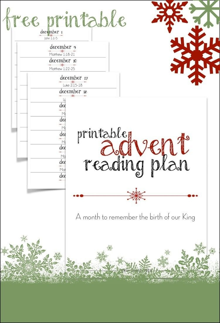 Printable Advent Reading Plan | Best Of Not Consumed Blog | Advent - Free Printable Advent Bible Study