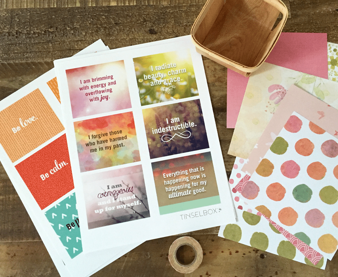 Printable Affirmation Cards: Pamper Your Self Esteem - Tinselbox - Free Printable Affirmation Cards