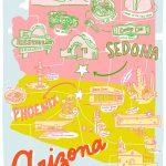 Printable Arizona Mapkristen Long X Aww Sam | Illustrations In   Free Printable Map Of Arizona