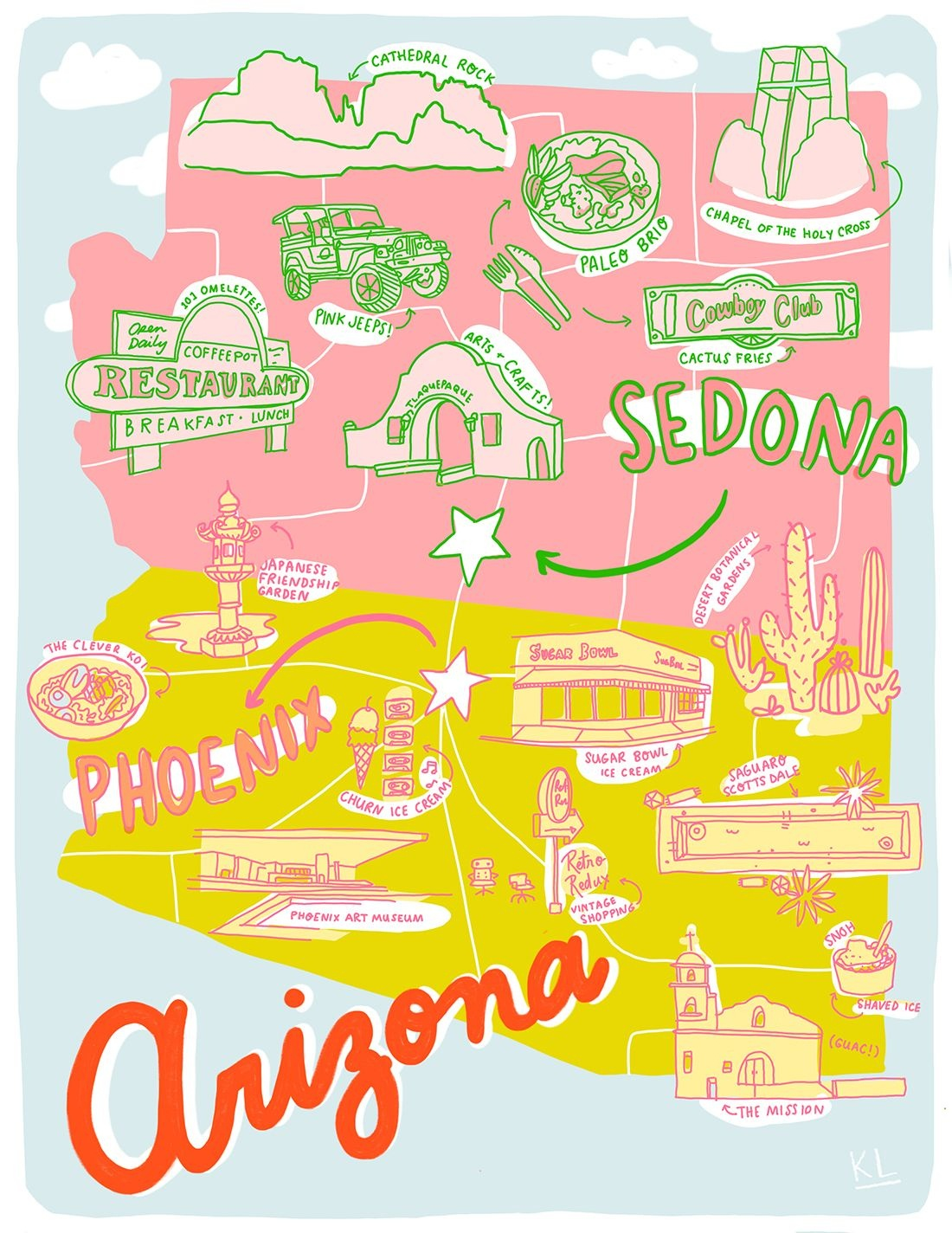 Printable Arizona Mapkristen Long X Aww Sam | Illustrations In - Free Printable Map Of Arizona