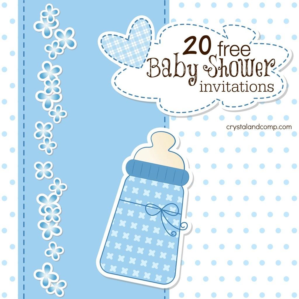 Printable Baby Shower Invitations - Free Printable Baby Shower Invitations For Boys