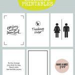 Printable Bathroom Signs   Being Mrs Mcintosh   Free Bathroom Printables
