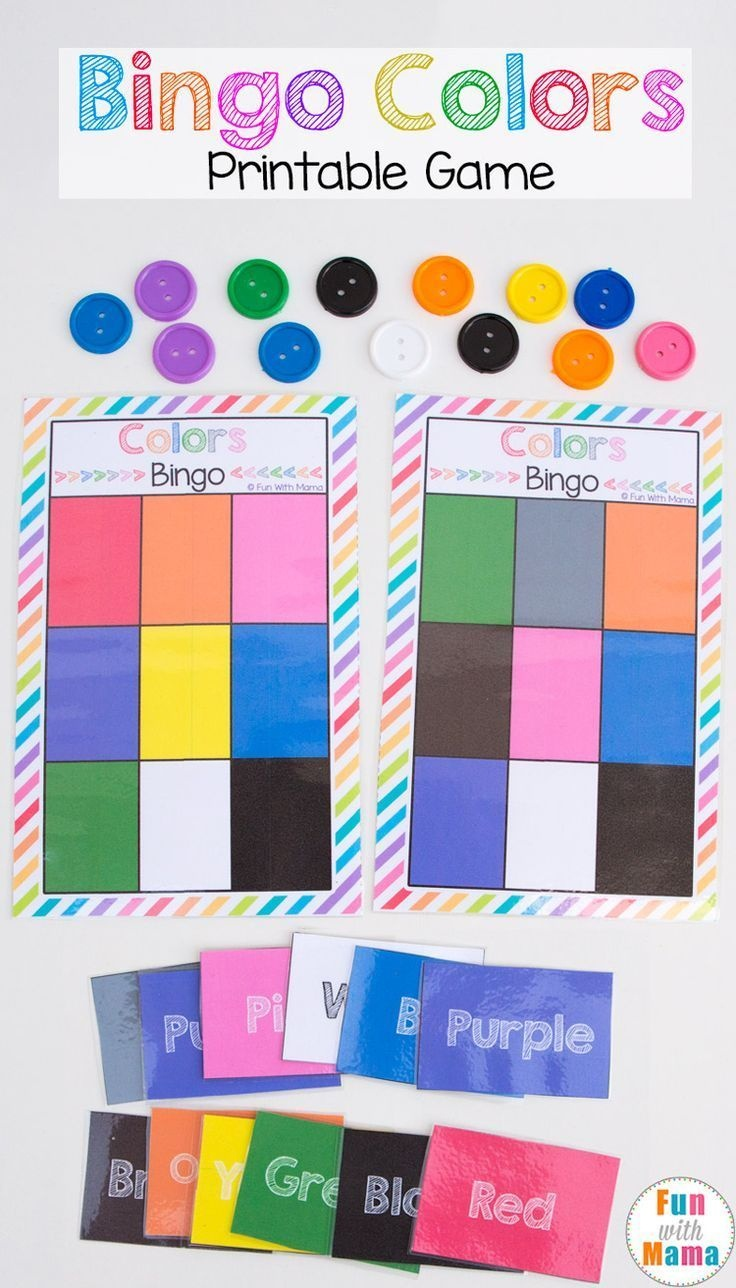 Printable Bingo Colors | Colors | Preschool Games, Preschool - Free Printable Games For Toddlers