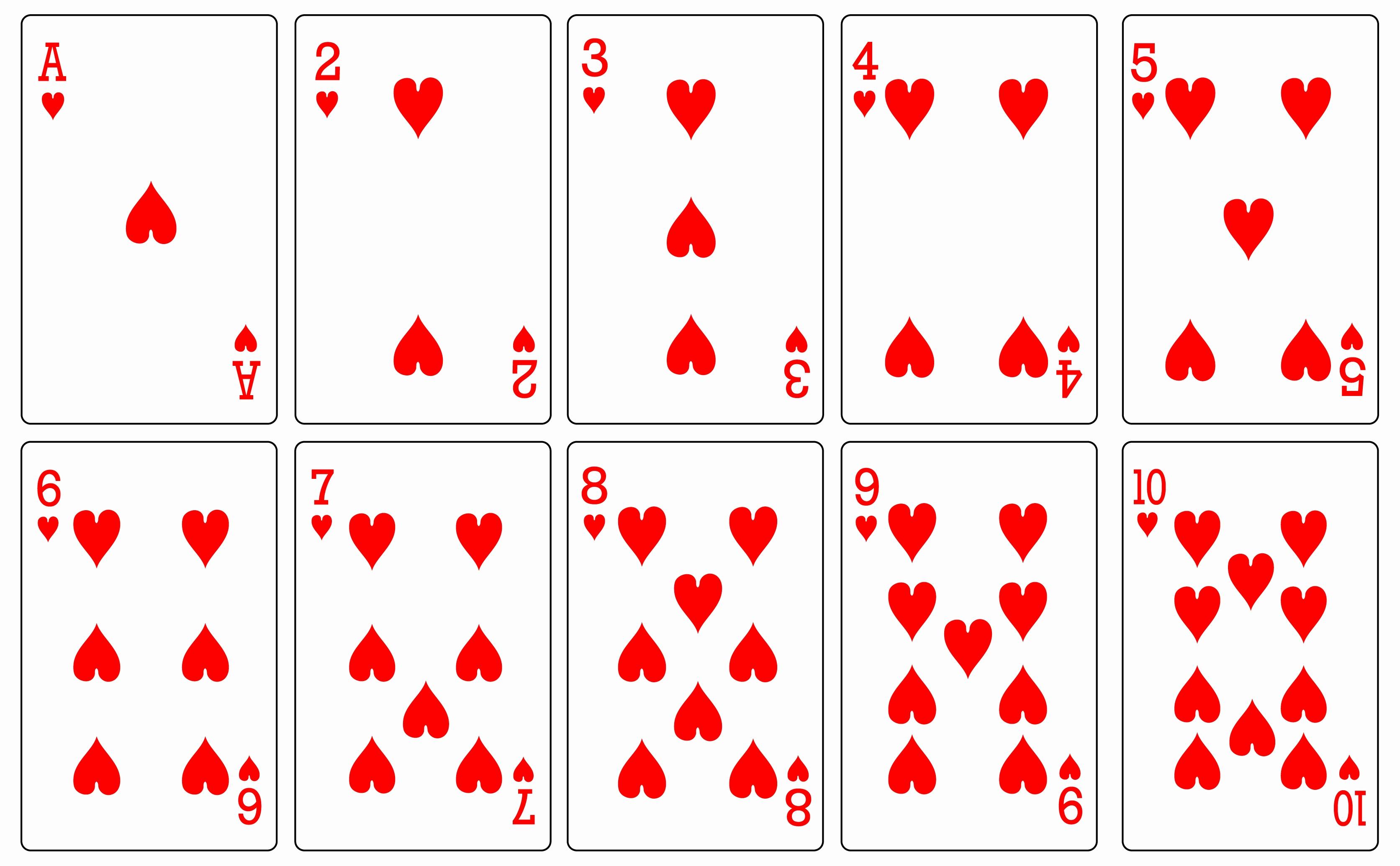 Printable Blank Playing Cards Inspirational 8 Best Of Free Printable - Free Printable Deck Of Cards