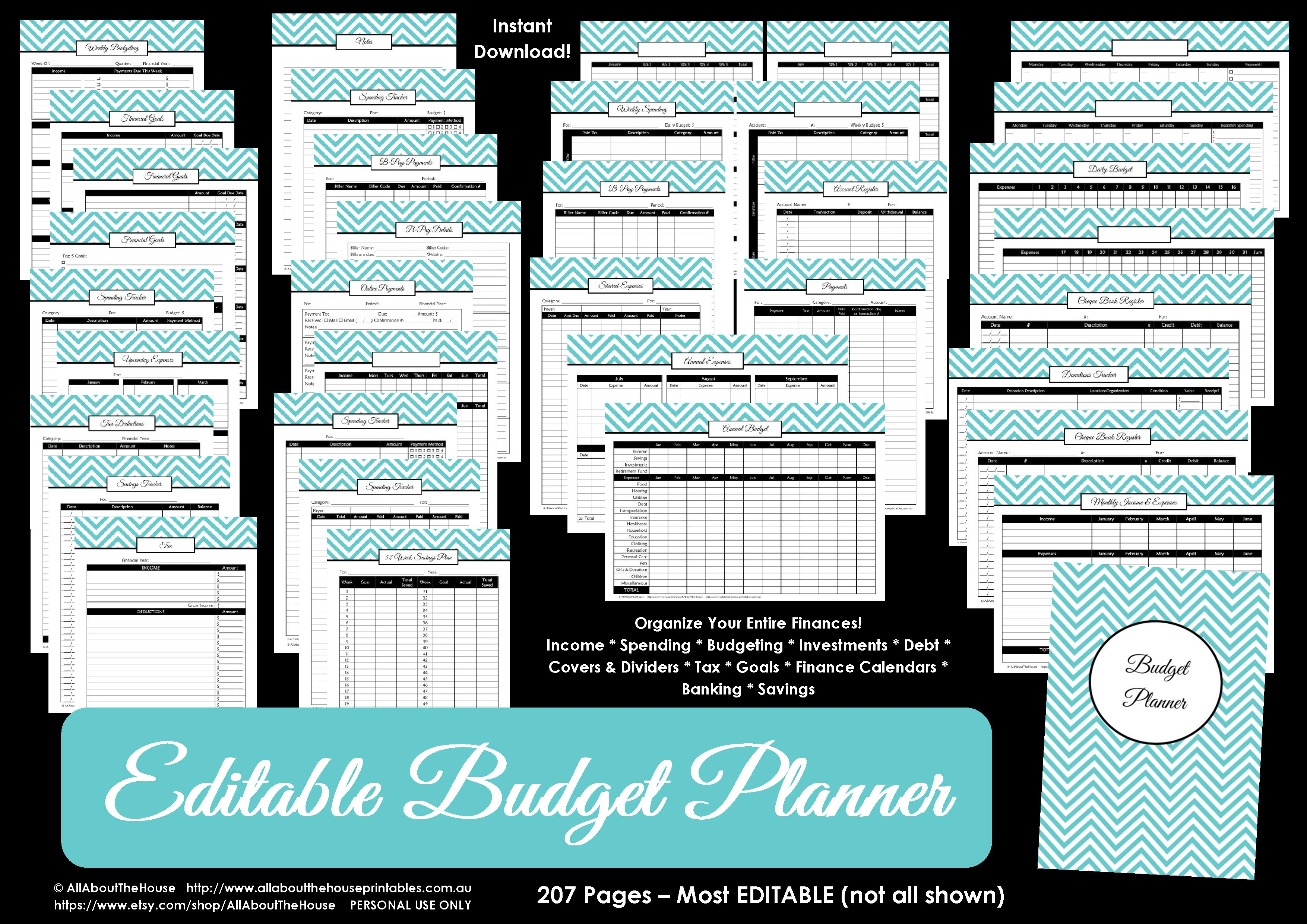 Printable Budget Planner/finance Binder Update - All About Planners - Bill Binder Free Printables