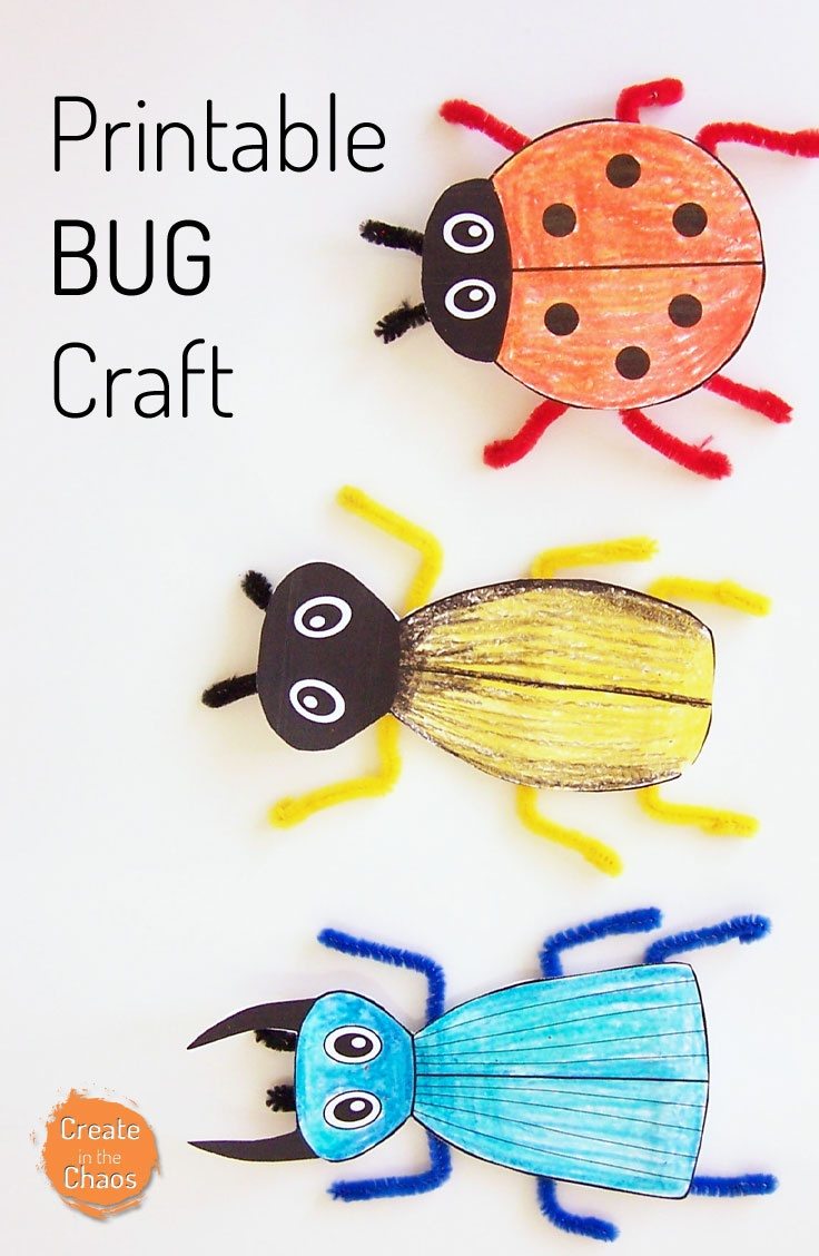 Printable Bug Craft - Create In The Chaos - Free Printable Craft Activities