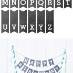 Printable Chalkboard Letters Cake Bunting   Yellow Bliss Road   Free Printable Cake Banner Templates