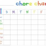Printable Chore Charts Free   Acme Of Skill   Free Printable Chore Chart Templates
