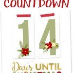 Printable Christmas Countdown | *christmas* | Christmas Countdown   Christmas Countdown Free Printable