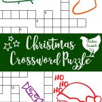 Printable Christmas Crossword Puzzle With Key   Free Printable Christmas Picture Puzzles