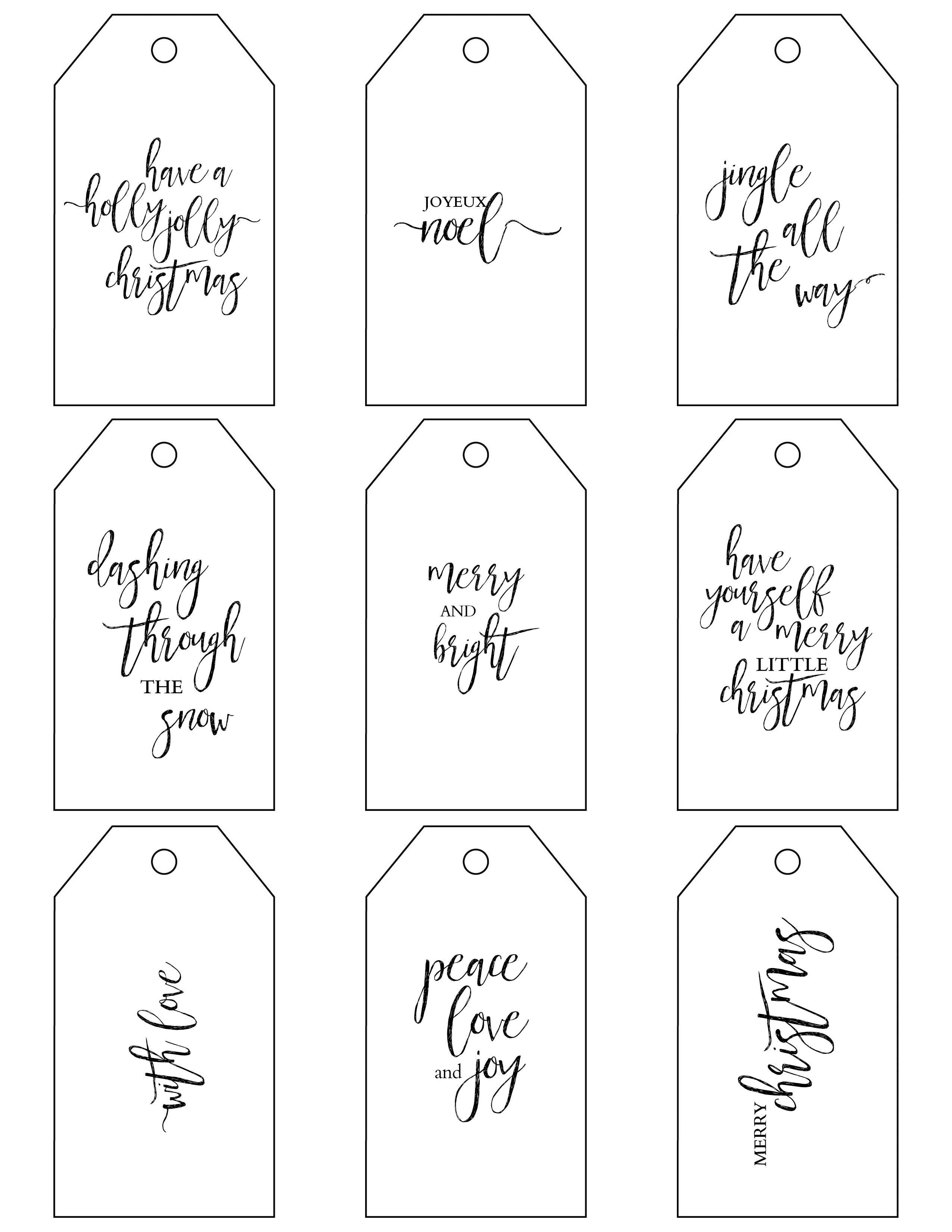 Printable Christmas Gift Tags Make Holiday Wrapping Simple - Free Printable Gift Tag Templates For Word