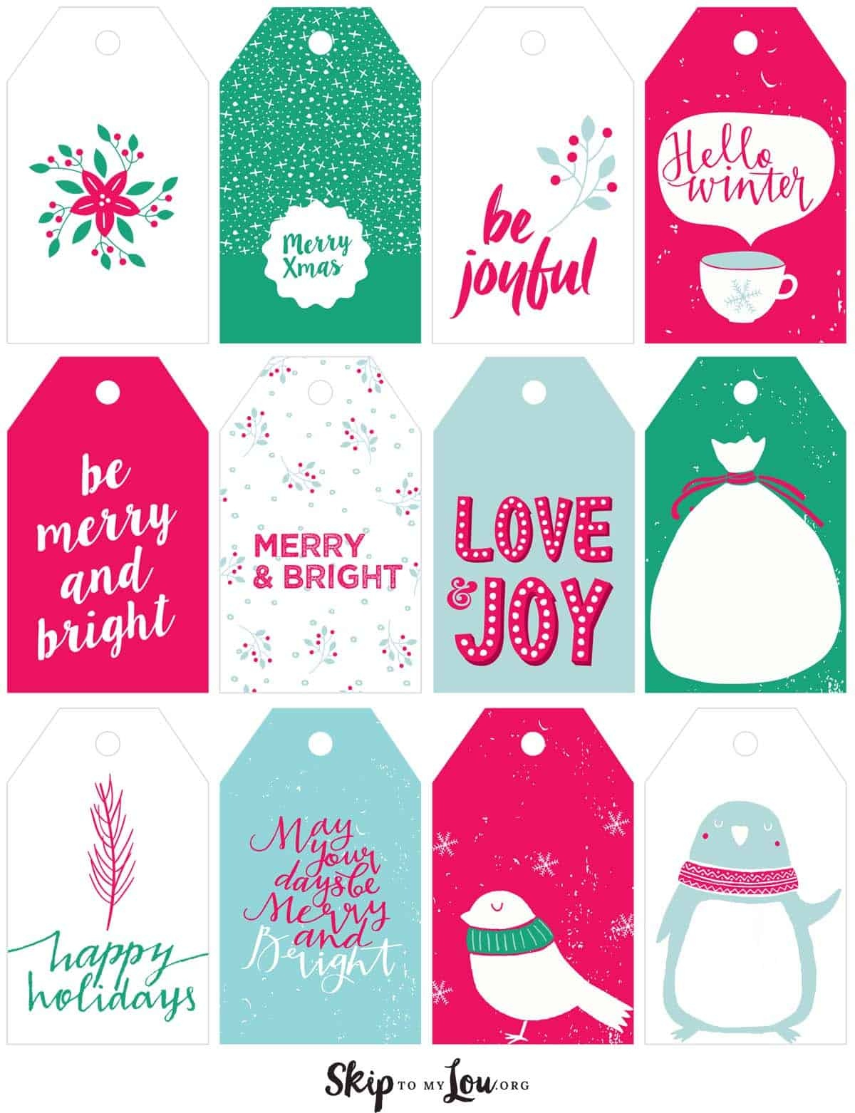 Printable Christmas Gift Tags | Skip To My Lou - Santa Gift Tags Printable Free