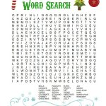 Printable Christmas Word Search For Kids & Adults   Happiness Is   Free Printable Christmas Puzzles Word Searches