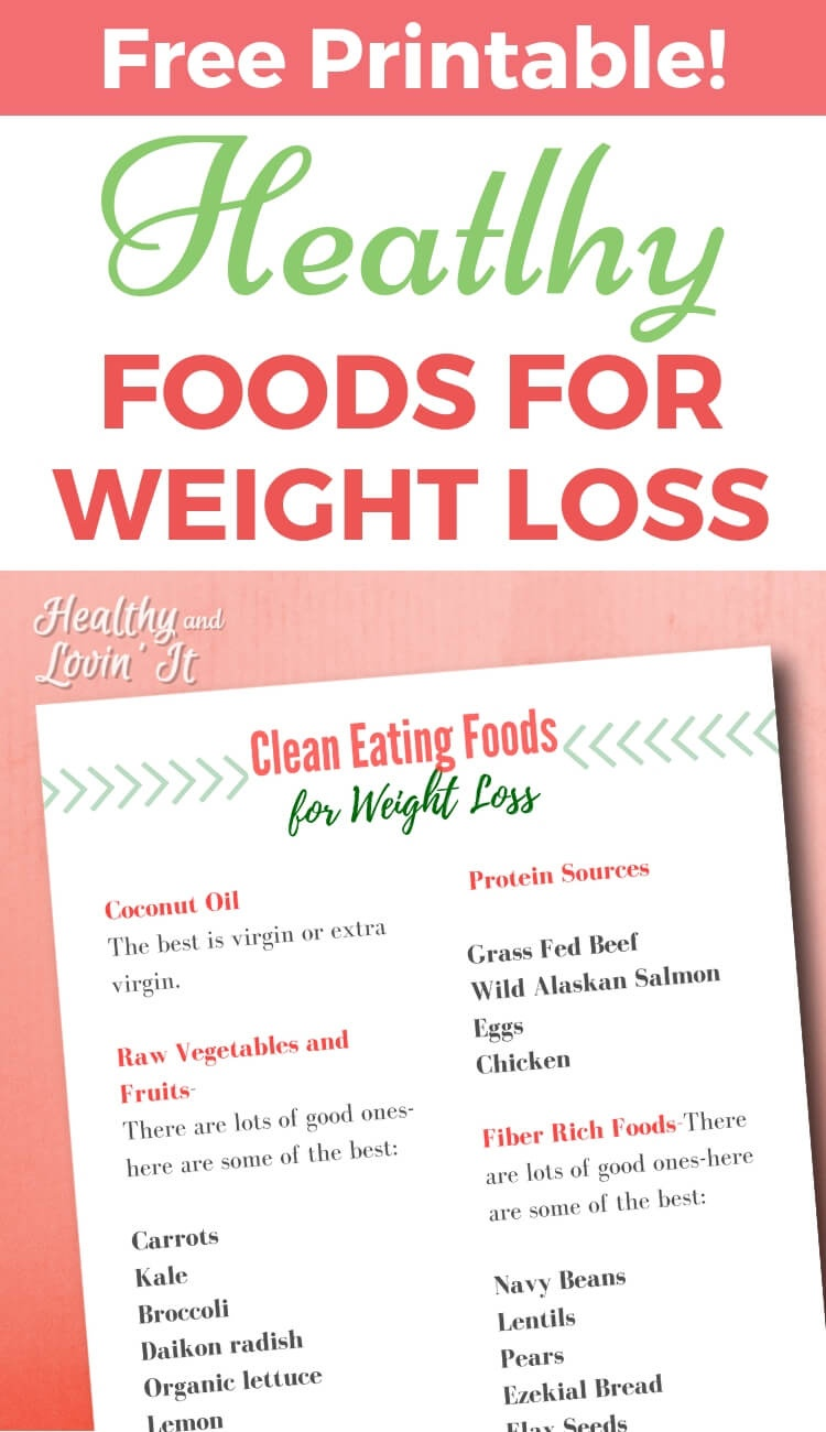 Printable Clean Eating Grocery List For Weight Loss - Healthy And - Free Printable Clean Eating Grocery List