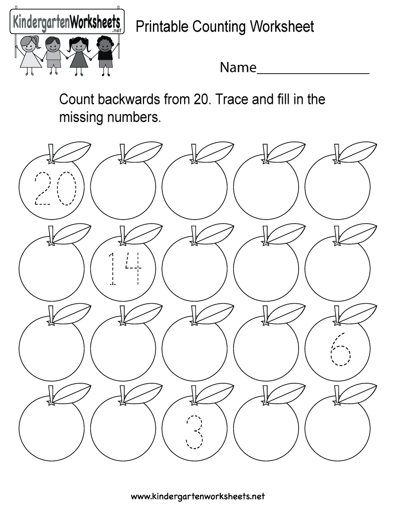 Printable Counting Worksheet - Free Kindergarten Math Worksheet For Kids - Free Printable Counting Worksheets