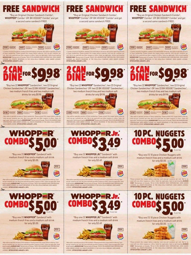 Printable Coupons: Burger King Coupons | Famo | Free Printable - Burger King Free Coupons Printable