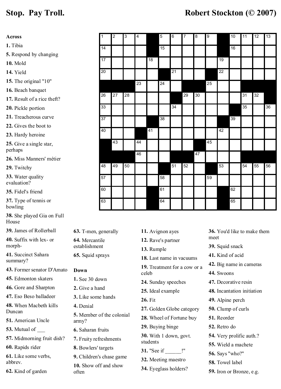 Printable Crosswords About Friendship Trials Ireland - Free Printable Crosswords