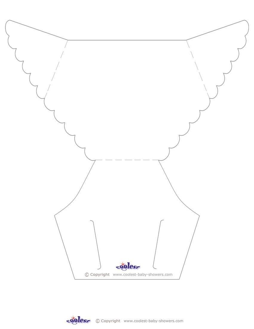 Printable Diaper Card Template - Free Printable Diaper Baby Shower Invitations