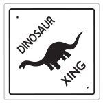 Printable Dinosaur Crossing Decoration   Coolest Free Printables   Free Printable Dinosaur Birthday Banner