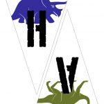 Printable Dinosaur Happy Birthday Bunting / Pennant Banner | Dino   Free Printable Dinosaur Birthday Banner