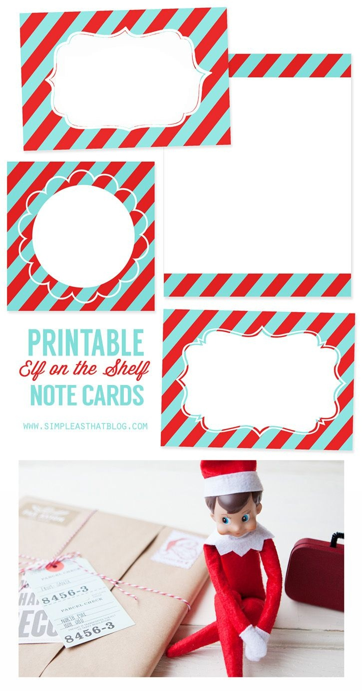 Printable Elf On The Shelf Note Cards | Simple As That Blog | Elf On - Free Printable Elf On The Shelf Notes