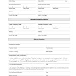 Printable Emergency Contact Form Template | Home Daycare | Emergency   Free Printable Parent Information Sheet