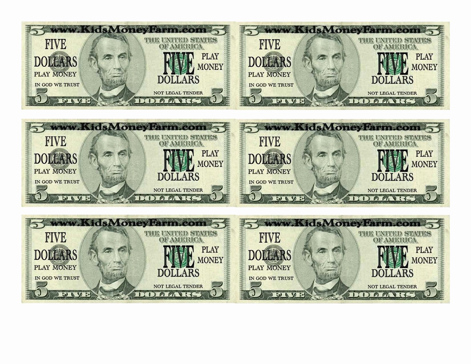Printable Fake Money Templates Unique Printable Fake Money 100 - Free Printable Dollar Bill Template