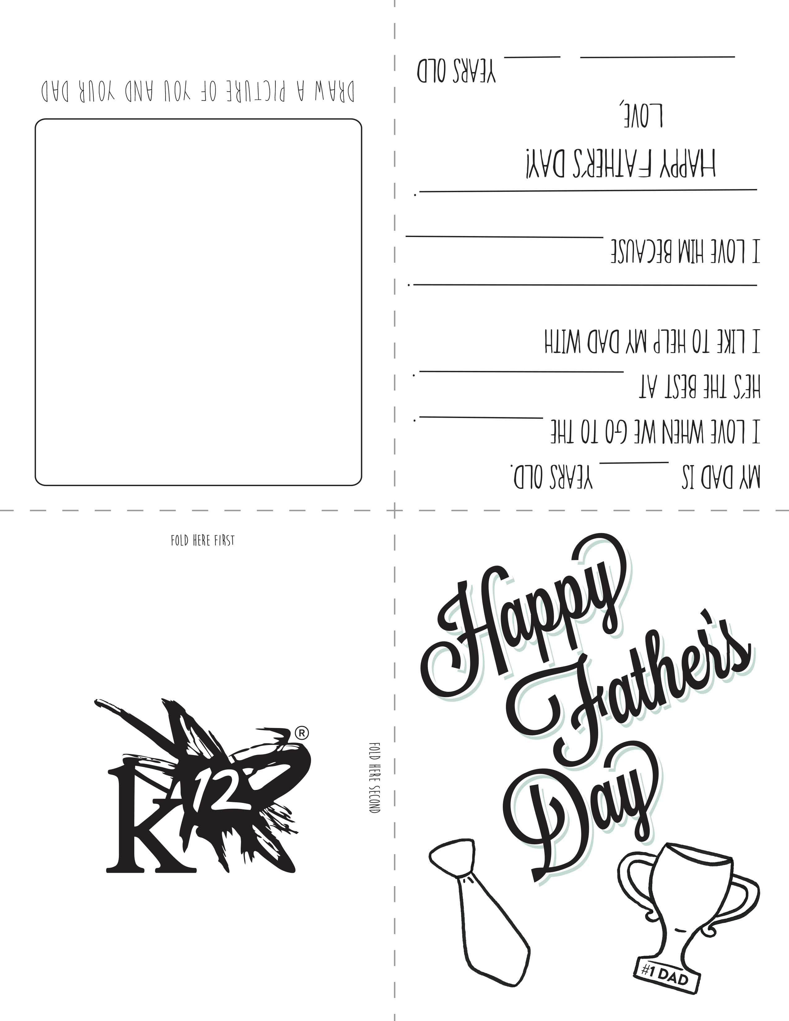 Printable Father's Day Card For Kids To Make - Learning Liftoff - Free Printable Fathers Day Cards